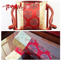 中式红木沙发抱枕靠垫 中国风古典家具绸缎靠枕 仿古抱枕套不含芯