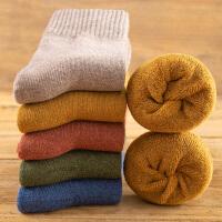 袜子男秋冬季加厚中筒棉袜羊毛巾袜冬天加绒保暖长筒毛圈长袜