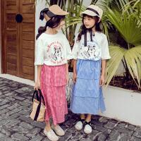 女童套装裙夏装儿童时髦童装小女孩洋气时尚两件套