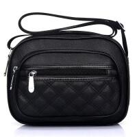 韩版小做生意收钱包单肩斜挎包中年妈妈包软皮零钱包多层女式包包
