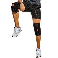 户外护膝加压调节式钢板护膝膝关节固定运动护具防止拉伤骨折