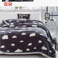 拉舍尔毛毯加厚双层冬季婚庆盖毯单人双人珊瑚绒毯子床单毯午睡毯k