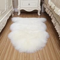 整张羊皮地毯卧室床边毯客厅羊毛地垫欧式飘窗垫沙发坐垫防滑k