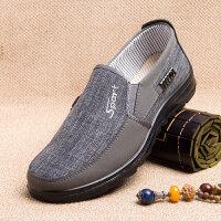 老北京布鞋男士休闲鞋春秋中老年人透气布鞋爸爸鞋中年人单鞋
