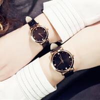 简约皮带情侣手表韩版女式防水手表男士对表学生手表
