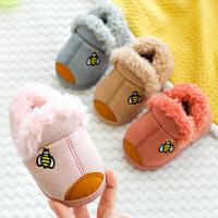 宝宝加绒棉鞋小童鞋女童鞋冬季软底婴儿保暖男童学步鞋加厚棉拖鞋