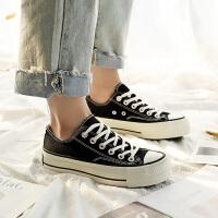 帆布鞋女2018新款韩版百搭学生松糕鞋女黑色厚底增高鞋子女板鞋秋