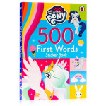 My Little Pony 500 First Words Sticker Book 英文原版绘本 小马宝莉500个