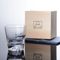 创意日式水杯水晶富士山杯玻璃杯手工威士忌杯鸡尾酒杯茶杯冷饮杯
