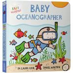 英文原版绘本 Baby Oceanographer 纸板书 幼儿STEM启蒙科普图画书 亲子共读