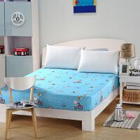 绚典全棉床笠 床单单件斜纹印花单双人席梦思床垫床罩床上用品保护套