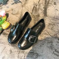 小皮鞋女复古学生韩版百搭森女系2019新款英伦风增高皮鞋