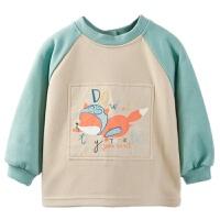 儿童防水罩衣幼儿园吃饭围兜宝宝春季外套反穿衣中大童
