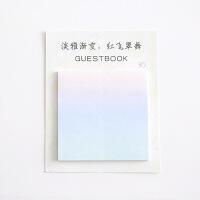 创意渐变色时尚记事贴便利贴 简约韩国可爱便携小清新便签贴n次贴