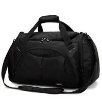 旅行包女包男士独立鞋位大容量行李袋旅游运动训练健身包出差、手提包 黑色 独立鞋位