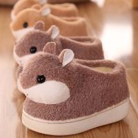宝宝棉拖鞋1-3岁冬季包跟男童2儿童室内女童小孩防滑秋季棉鞋可爱