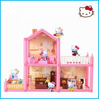 hello kitty猫凯蒂厨房车儿童过家家玩具屋女孩公主娃娃房子礼物c