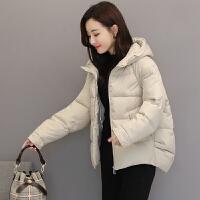女2019新款冬季时尚短款棉衣韩版轻薄前短后长小棉袄外套