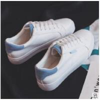 新款皮面小白鞋女帆布鞋原宿ulzzang学生韩版百搭ins板鞋
