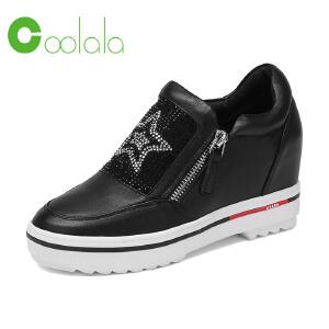 红蜻蜓旗下品牌COOLALA女鞋秋冬休闲鞋鞋子女HNB6730