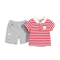 男童短袖t恤套装0-3岁儿童夏季两件套婴儿衣服