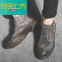 新品上市马丁靴男18新款复古男鞋潮真皮英伦短靴子雪地休闲工装靴