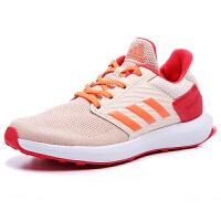 阿迪达斯(adidas)BA9435新款男童女童运动鞋缓震跑步鞋橙色