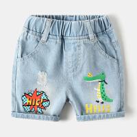 恐龙儿童牛仔短裤宝宝裤子薄款夏装童装男童中裤
