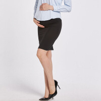 秋冬季黑色短裙 孕妇装春秋装工装一步裙正装 职业托腹包臀半身裙