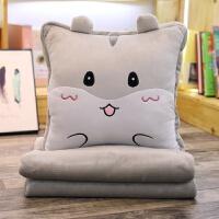 抱枕被子两用 多功能汽车靠枕靠垫颈枕 午睡毯子个性可爱沙发抱枕
