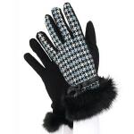 新款时尚户外休闲女士韩版羊毛针织全指加厚开车时尚保暖手套