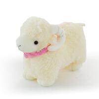 羊娃娃公仔大 公仔睡觉女孩可爱羊毛绒玩具布偶小绵羊生日礼物大号娃娃玩偶抱枕 白色款