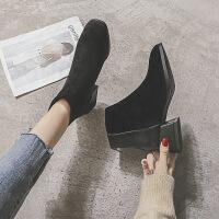 女靴2019新款欧美女士秋冬靴子外穿冬季保暖毛棉鞋一脚蹬女鞋