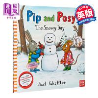 【中商原版】Pip and Posy: The Snowy Day 波西和皮普下雪的日子 低幼亲子故事绘本 平装 英文原