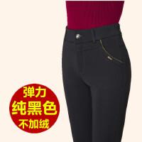 中年女裤秋冬修身加绒加厚妈妈裤女中老年人休闲显瘦直筒大码长裤