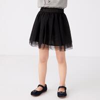 【秒杀价:129元】马拉丁童装女大童腰裙2020夏装新款网纱半身裙百搭短裙腰裙