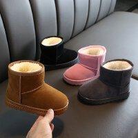 儿童雪地靴2019冬季加绒加厚女童短靴男童防滑冬鞋宝宝棉靴子