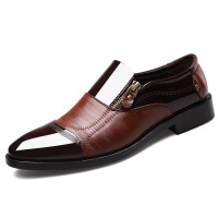 2018新款大码男士商务正装皮鞋尖头男鞋一脚蹬休闲懒人鞋
