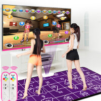 高清瑜伽双人跳舞毯电视电脑两用下载加厚减肥跳舞机