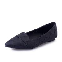 2019春季新款韩版浅口平底鞋女尖头套脚休闲单鞋女低跟百搭女鞋子