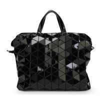 女士手提包 日韩几何菱格折叠单肩斜挎手提包三宅一生同款镭射包韩版公文包潮女士包包