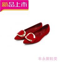 韩版尖头平底鞋女单鞋浅口黑色瓢鞋新款大码女鞋41-43