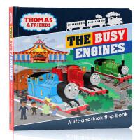 小火车托马斯和他的朋友们Thomas and Friends The Busy Engines英文原版纸板翻翻书 绘本
