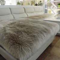 长毛绒沙发垫定做冬季加厚防滑飘窗垫欧式皮仿羊毛沙发坐垫椅垫k