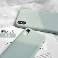 ins手机壳iPhone Xs Max液态硅胶苹果x原装全包防摔保护套新iPhoneX小时XSMax