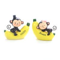 装饰摆件 生肖猴子香蕉猴子生日装饰