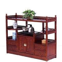 餐边柜 厨房储物收纳柜实木仿古中式碗柜酒柜茶柜客厅玄关茶水柜 双门