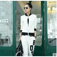女装 棒球服 欧洲站 时 尚 卫 衣 休 闲 运动套装 大码 韩版潮