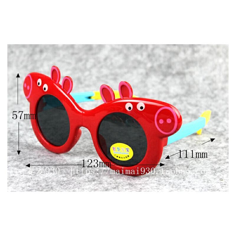 儿童遮阳软男童女童小猪太阳眼镜偏光可折叠防紫外线墨镜