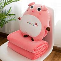 暖手抱枕猪 娃娃暖手捂手抱枕插手猪公仔毛绒玩具热水袋充电可爱懒人冬天 +电暖宝+毛毯